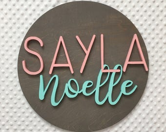 """12"""" Diameter Name Sign 