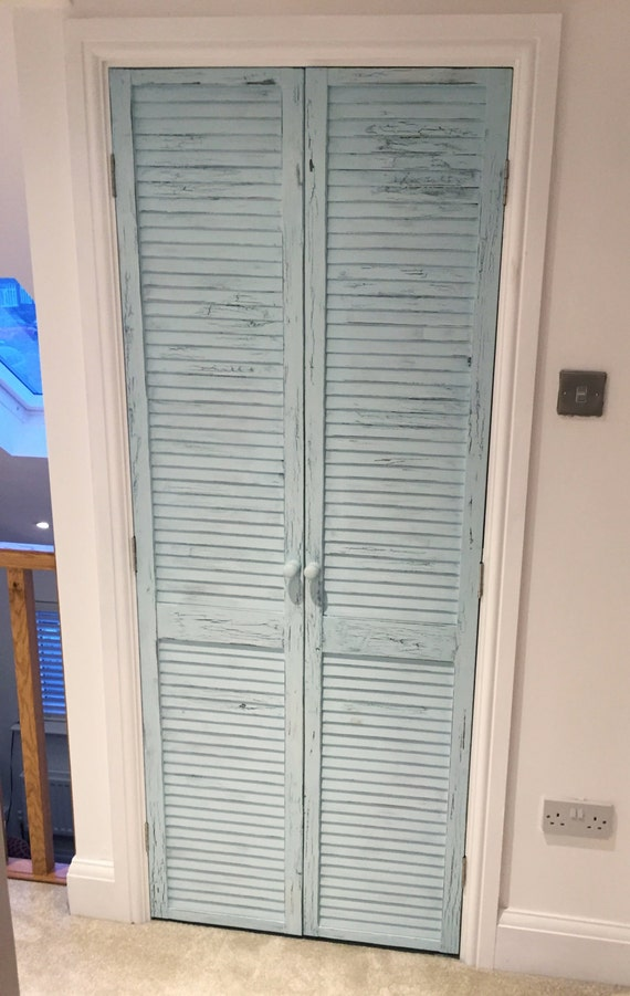 Like this item? & Distressed shutter doors. Rustic louvre doors. Shabby-chic Pezcame.Com