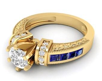 Solitärring, Verlobungsring, Brillantring, Hochzeitsring, Diamant Ring, Versprechensring, 0.50 Karat