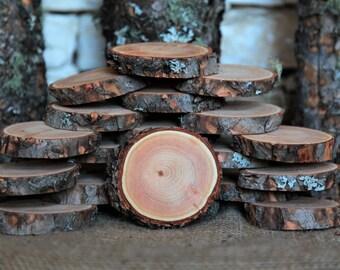"26 Douglas Fir Tree Slices - 3"" to 3.5"""