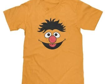 Sesame Street Ernie Face Shirt Available in Adult & Youth Sizes