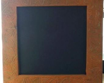 """Metal 16 X 16"""" Leaf Imprint Chalkboard"""