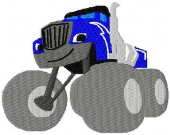 crusher blaze monster truck embroidery design embroidery pattern
