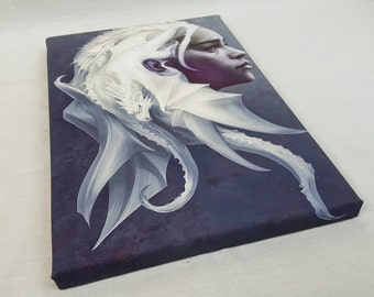 Daenerys Targaryen, Khaleesi, Mother Of Dragons A4 Size Canvas Game Of Thrones Themed