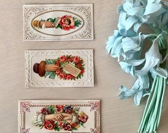 Victorian Era Calling Cards - 1800's - Scrapbook