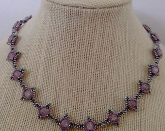 Beaded Component Necklace, Seed Bead Necklace, Unique Necklace, Beaded Necklace