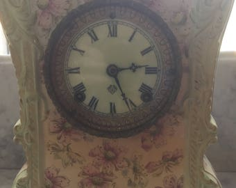 Nice Ansonia Ceramic clock in good running order.