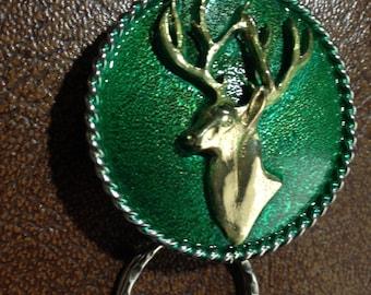 Deer head key fob