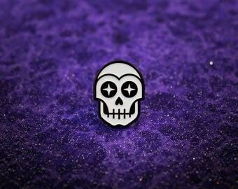 "The Star Gazer .75"" Soft Enamel Pin ( Occult | Skull | Stars )"