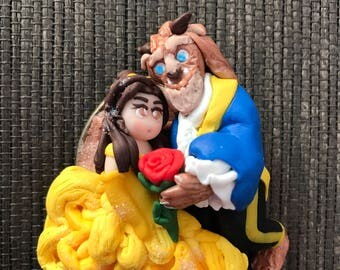 Cameo beauty and the beast completely made by hand