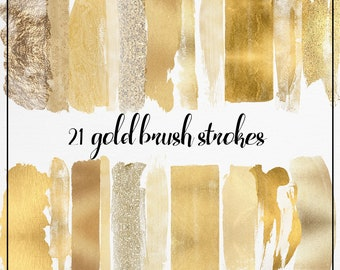 Gold Brush Strokes clipart, Glitter Clipart, Gold Splash clipart, gold logo watercolor, gold brush clipart, gold glitter clipart, commercial