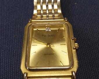 Pierre Cardin Men's Wrist Watch with Diamond Accent-Working Condition