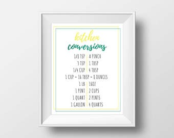 Kitchen Measurement Conversion Chart Printable
