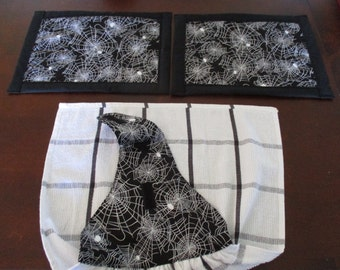 Spider Kitchen Hand Towel and Hot Mats