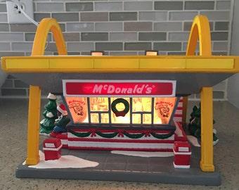 Department 56 Snow Village McDonalds Building