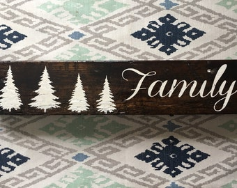 Family Of Trees Sign