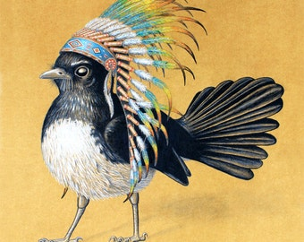 Chief Willy Wagtail - A4 Print