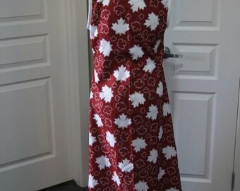 Maple leaf dress, canada, dress,girls dress,girls dresses, cotton dress, boho dress, dresses for summer, dresses for women, handmade canada,