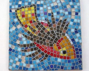 Mosaic diving fish coaster