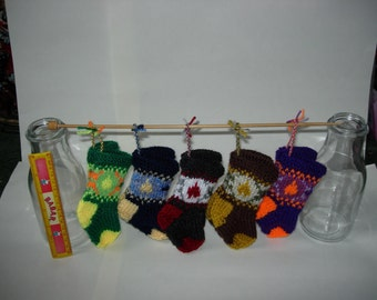 Mini knitted stockings