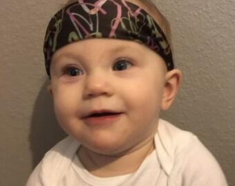 Chocolate Hearts-kids stay put headband