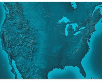 North America Ski Areas and Rivers