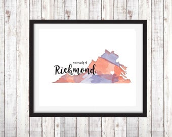 University of Richmond Digital Download Instant Print