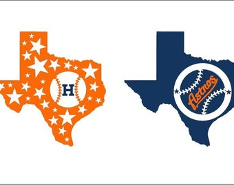Baseball Tumbler Decals, Texas Rangers Decal, Houston Astros Decal