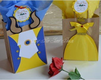 Beauty and the Beast Party Favor Bags / Princess Belle and the Beast / Princess Belle Party Theme
