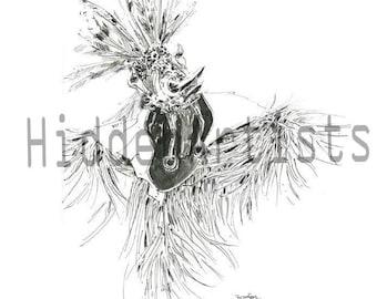 Hudoq Dayak tribal Art