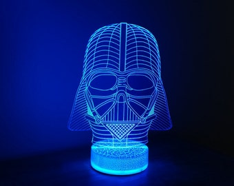 Star Wars Darth Vader 3D Night Lamp, 3D Night Light Illusion Children Light