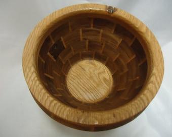 Hand Turned Oak an Walnut Segemented Bowl