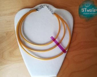 Collana in caucciù /Natural rubber necklace