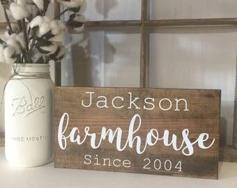 Custom Family Farmhouse Sign, Farmhouse Family name Sign, Family Name Sign, Custom Hand Painted Farmhouse Sign, Fixer Upper, Farmhouse Decor
