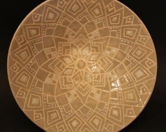 Gray Mandala Bowl