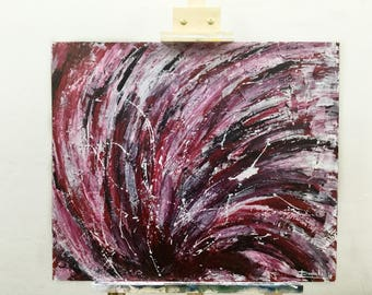 """Red Warp// Original Acrylic Painting// 20""""by24""""// MDF Board"""