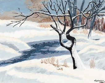 Winter's Frozen Stream - Limited Print