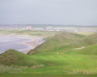 Ballybunion Golf Club Casen Course Hole # 16 (1 of 4) Authenticated Canvas Print