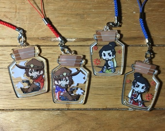 """PRE-ORDER Overwatch - 2"""" Acrylic Double-sided Bottle Charms - McHanzo"""