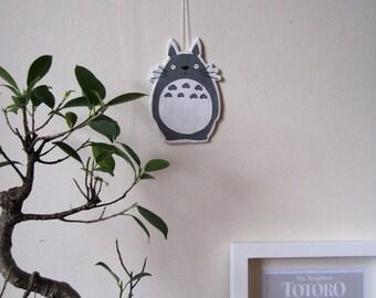 Totoro clay decoration. Totoro wall hanging. Totoro nursery décor