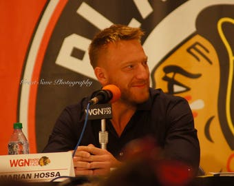 Marian Hossa, Chicago Blackhawks, Hockey Decor, Photography