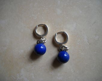 Sterling silver Lapis earring