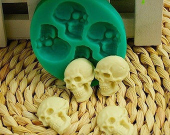 Mini Skull Heads Silicone Mold