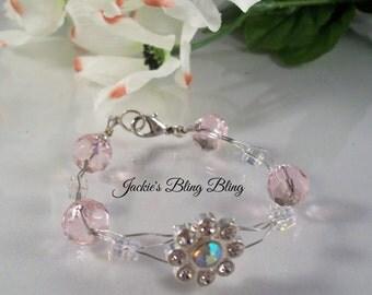 Girls Flower Wire Bracelet