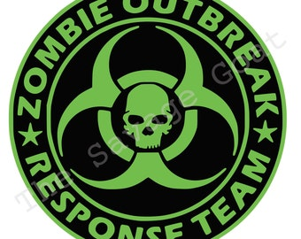 Zombie Response Team Vinyl Decal Sticker - CHOOSE your COLOR!