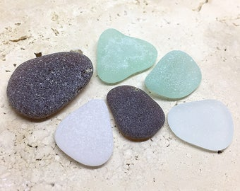 Genuine Beach Glass, Jewelry Quality Surf Tumbled Beach Glass Pieces, Frosted Mixed Colors Beach Glass Lot, Genuine Sea Glass, (GP-10)