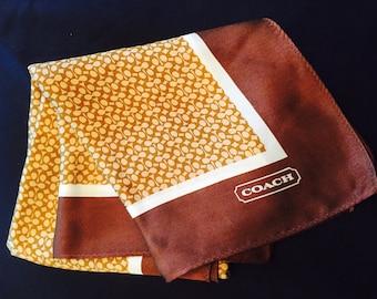Coach Mini-Monogram Silk Scarf or Pocket Square