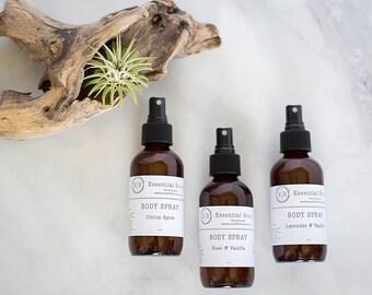 All Natural Body Spray, Linen Spray, Room Spray, Synthetic Free Body Spray Spritz Perfume