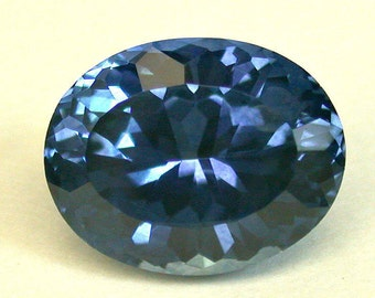 VINTAGE SAPPHIRE Rock Creek Montana Blue Faceted GEMSTONE oval 4.10 cts src6