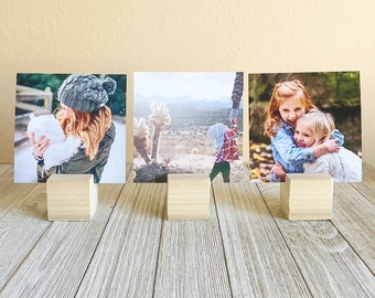 Set of 3- Wooden Photo Perches (single photo)